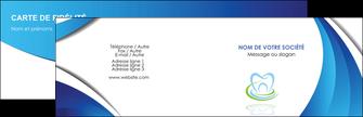 personnaliser modele de carte de visite dentiste dents dentiste dentier MLGI30988