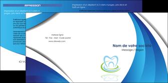 imprimerie depliant 2 volets  4 pages  dentiste dents dentiste dentier MLIG30994