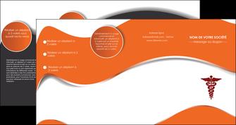 modele depliant 4 volets  8 pages  chirurgien pharmacie hopital medecin MIF31064
