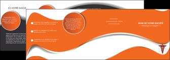 creation graphique en ligne depliant 4 volets  8 pages  chirurgien pharmacie hopital medecin MLGI31068