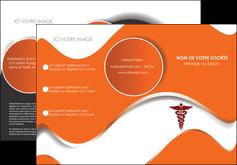 faire modele a imprimer depliant 3 volets  6 pages  chirurgien pharmacie hopital medecin MIF31078