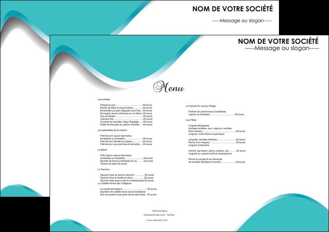 impression set de table metiers de la cuisine menu restaurant carte MLGI31146