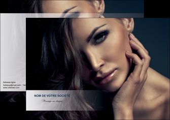personnaliser modele de flyers cosmetique coiffeur a domicile salon de coiffure salon de beaute MLGI31282