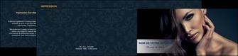 creation graphique en ligne depliant 2 volets  4 pages  cosmetique coiffeur a domicile salon de coiffure salon de beaute MLGI31286