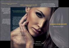 creer modele en ligne depliant 3 volets  6 pages  cosmetique beaute bien etre coiffure MLGI31374