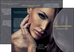 creer modele en ligne depliant 3 volets  6 pages  cosmetique beaute bien etre coiffure MLIP31374