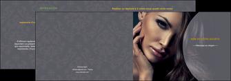modele en ligne depliant 2 volets  4 pages  cosmetique beaute bien etre coiffure MLIP31388