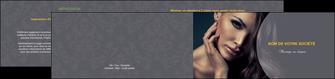 creation graphique en ligne depliant 2 volets  4 pages  cosmetique beaute bien etre coiffure MLGI31390