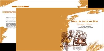 personnaliser modele de depliant 2 volets  4 pages  boulangerie pains boulangerie boulanger MLGI31454