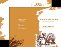 imprimer carte de visite boulangerie pains boulangerie boulanger MLGI31456