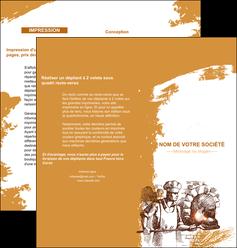 maquette en ligne a personnaliser depliant 2 volets  4 pages  boulangerie pains boulangerie boulanger MLGI31462