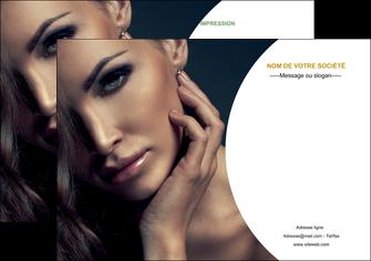 creer modele en ligne flyers centre esthetique  beaute bien etre coiffure MLGI31520