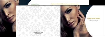 creer modele en ligne depliant 2 volets  4 pages  cosmetique beaute bien etre coiffure MLGI31522