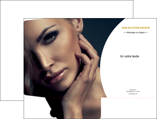 creation graphique en ligne pochette a rabat centre esthetique  beaute bien etre coiffure MLGI31526