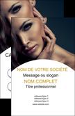 cree carte de visite cosmetique beaute bien etre coiffure MLIP31530