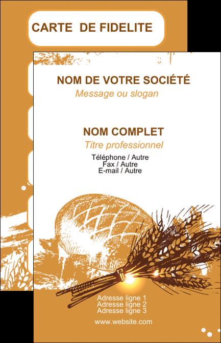 impression carte de visite boulangerie pains boulangerie boulanger MIF31536