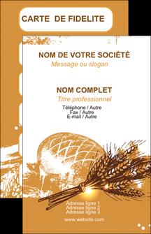 impression carte de visite boulangerie pains boulangerie boulanger MLGI31536