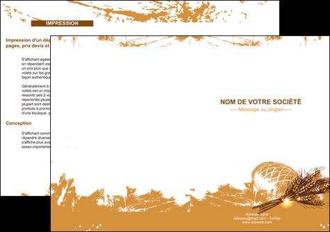 faire modele a imprimer depliant 2 volets  4 pages  boulangerie pains boulangerie boulanger MIF31540