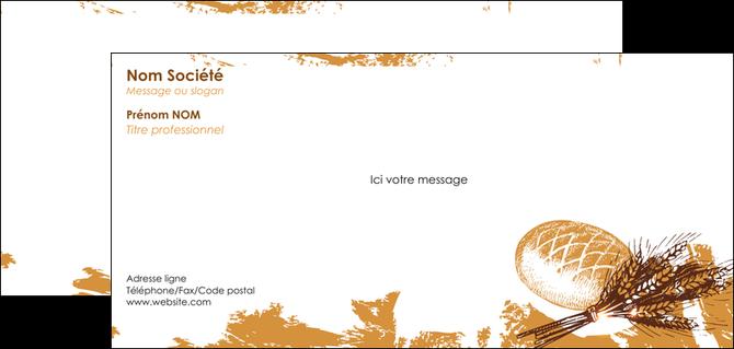 imprimerie carte de correspondance boulangerie pains boulangerie boulanger MIF31548
