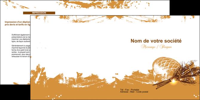 personnaliser modele de depliant 2 volets  4 pages  boulangerie pains boulangerie boulanger MIF31556