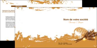 personnaliser modele de depliant 2 volets  4 pages  boulangerie pains boulangerie boulanger MLIG31556