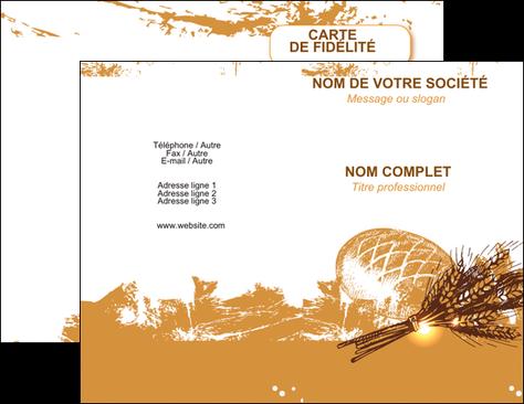 personnaliser maquette carte de visite boulangerie pains boulangerie boulanger MLGI31558