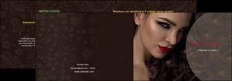 modele depliant 2 volets  4 pages  centre esthetique  beaute bien etre coiffure MLGI31662