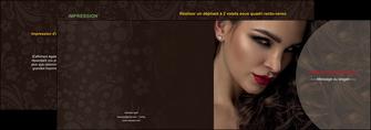 personnaliser modele de depliant 2 volets  4 pages  centre esthetique  beaute bien etre coiffure MLGI31664