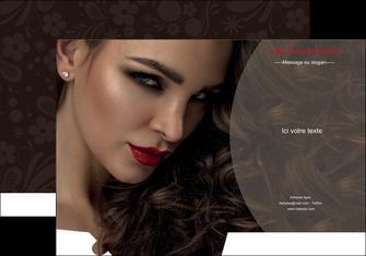 creation graphique en ligne pochette a rabat centre esthetique  beaute bien etre coiffure MLGI31666