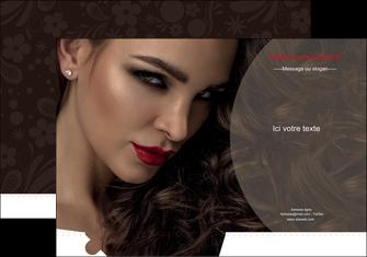 creation graphique en ligne pochette a rabat centre esthetique  beaute bien etre coiffure MLGI31668
