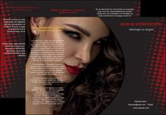 imprimerie depliant 3 volets  6 pages  centre esthetique  coiffeur a domicile salon de coiffure salon de beaute MLGI31754