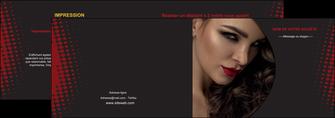 realiser depliant 2 volets  4 pages  centre esthetique  coiffeur a domicile salon de coiffure salon de beaute MLGI31766