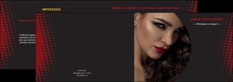 modele depliant 2 volets  4 pages  centre esthetique  coiffeur a domicile salon de coiffure salon de beaute MLGI31768