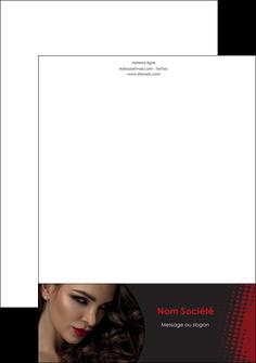 imprimerie tete de lettre centre esthetique  coiffeur a domicile salon de coiffure salon de beaute MLGI31778
