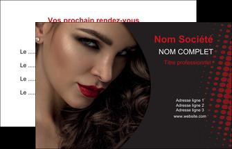 personnaliser modele de carte de visite centre esthetique  coiffeur a domicile salon de coiffure salon de beaute MLGI31780