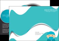 personnaliser maquette depliant 2 volets  4 pages  infirmier infirmiere infirmier infirmerie aide soignant MLGI31806