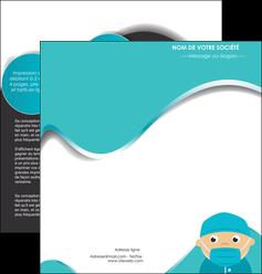 maquette en ligne a personnaliser depliant 2 volets  4 pages  infirmier infirmiere infirmier infirmerie aide soignant MLGI31808