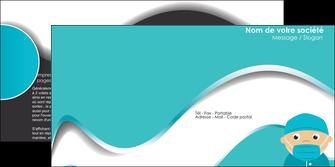 creation graphique en ligne depliant 2 volets  4 pages  infirmier infirmiere infirmier infirmerie aide soignant MLGI31818