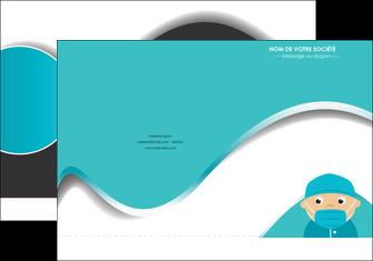 maquette en ligne a personnaliser pochette a rabat infirmier infirmiere infirmier infirmerie aide soignant MLGI31824