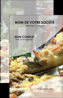 maquette en ligne a personnaliser carte de visite pizzeria et restaurant italien pizza pizzeria restaurant italien MLGI31862