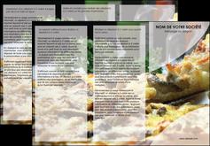 impression depliant 3 volets  6 pages  pizzeria et restaurant italien pizza pizzeria restaurant italien MLGI31870