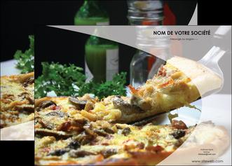 personnaliser maquette affiche pizzeria et restaurant italien pizza pizzeria restaurant italien MLGI31872