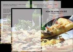 exemple depliant 2 volets  4 pages  pizzeria et restaurant italien pizza pizzeria restaurant italien MLGI31876