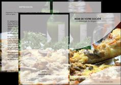 personnaliser maquette depliant 2 volets  4 pages  pizzeria et restaurant italien pizza pizzeria restaurant italien MLGI31878