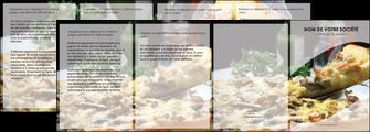 personnaliser maquette depliant 4 volets  8 pages  pizzeria et restaurant italien pizza pizzeria restaurant italien MLGI31880