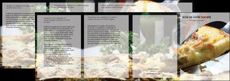 personnaliser modele de depliant 4 volets  8 pages  pizzeria et restaurant italien pizza pizzeria restaurant italien MLGI31882