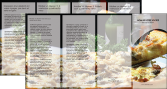 faire modele a imprimer depliant 4 volets  8 pages  pizzeria et restaurant italien pizza pizzeria restaurant italien MLGI31884