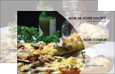 imprimer carte de visite pizzeria et restaurant italien pizza pizzeria restaurant italien MLGI31889