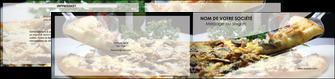 imprimer depliant 2 volets  4 pages  pizzeria et restaurant italien pizza pizzeria restaurant italien MLGI31894