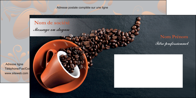 maquette en ligne a personnaliser enveloppe bar et cafe et pub cafe bar torrefacteur MLGI31996